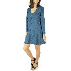 NEW Madewell Denim Lilyblossom Button Up Dress 00